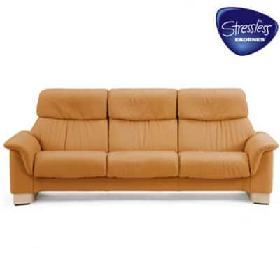 Stressless_Paradise_Sofa_High_Back_Tan