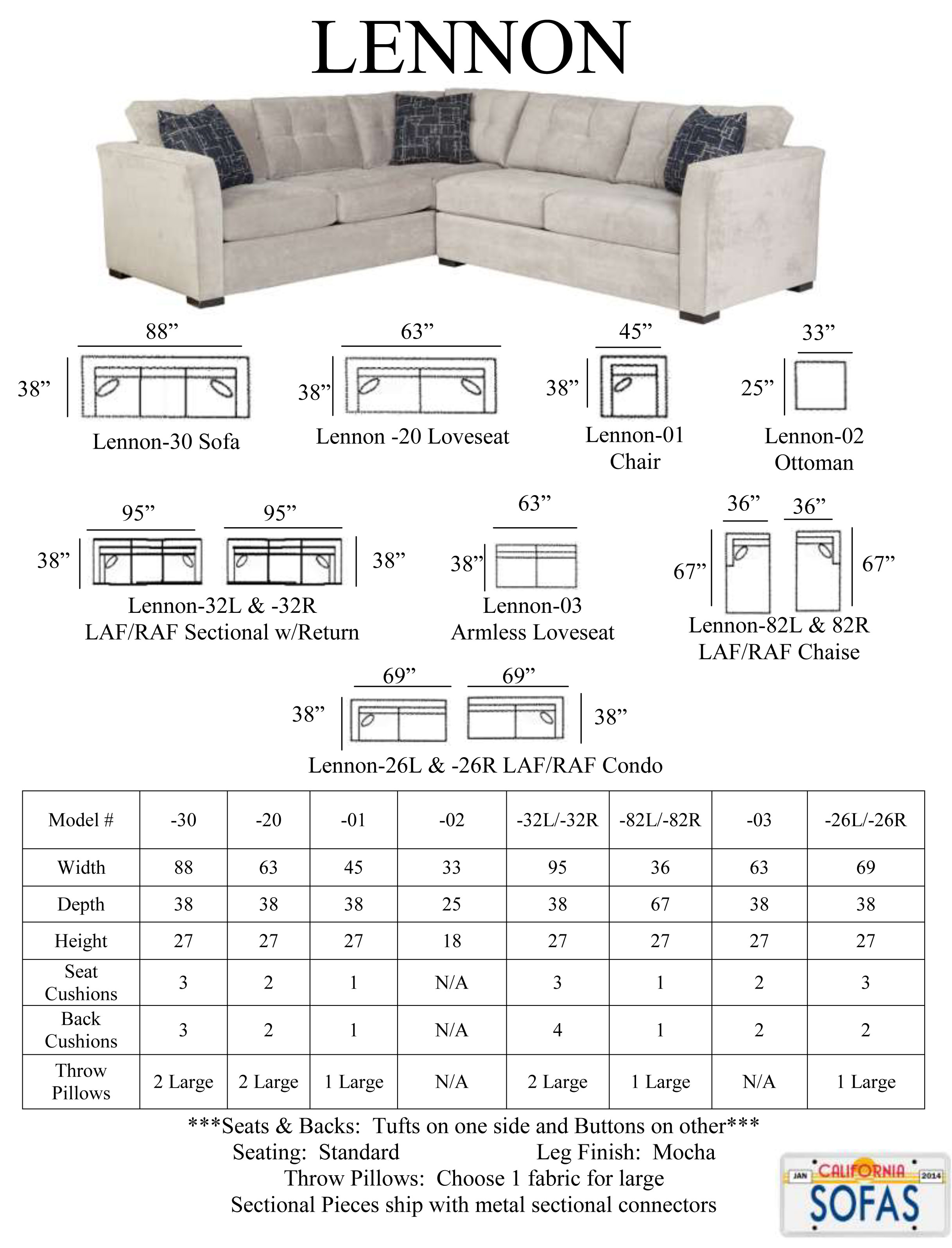 Sofas & Sectionals Furniture Products Vermont